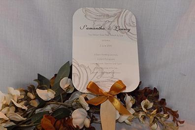 die cut wedding paddle fan programs - Home