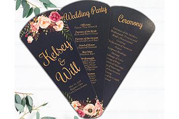 wedding programs petal fan program - Home
